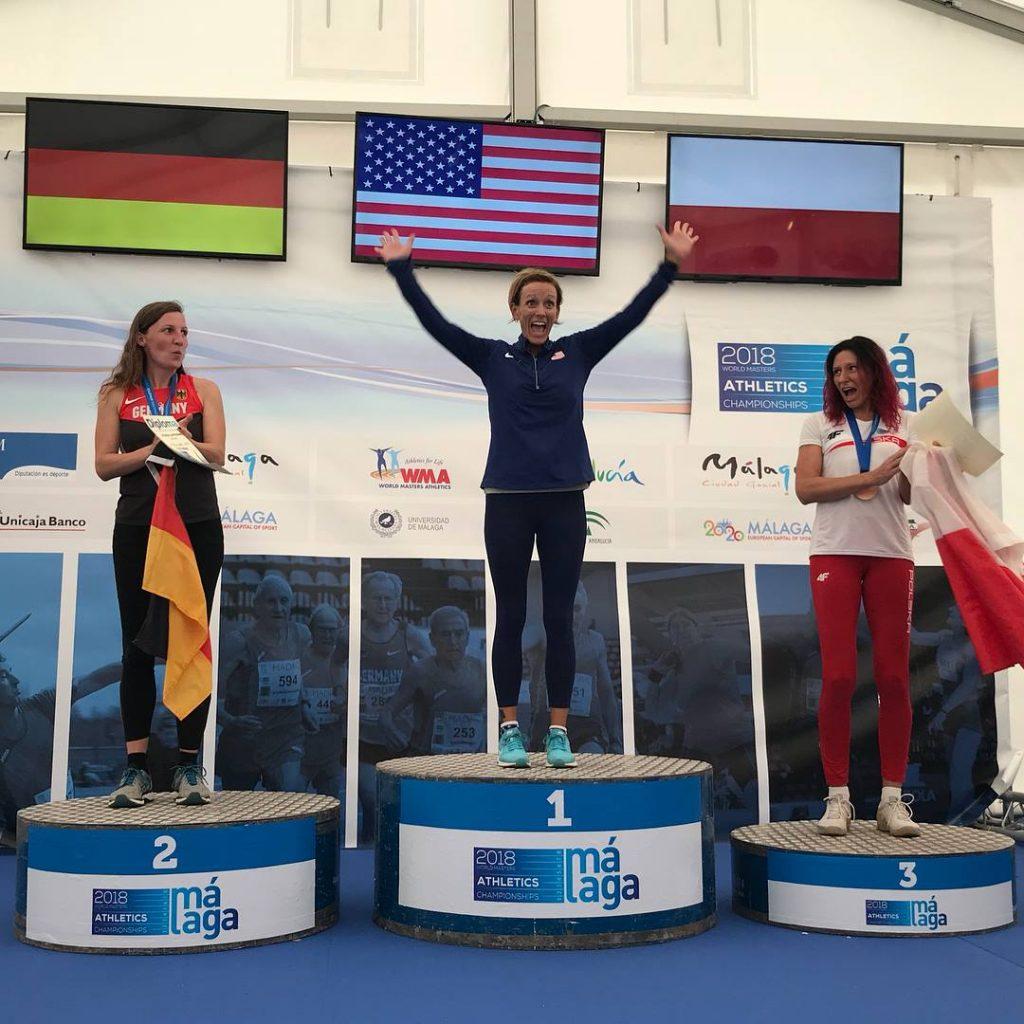Rachel Guest W40 Heptathlon Gold Medalist. *Photo credit Rod D'Avellar