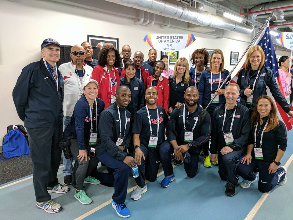 Team USATF at the 2017 WMA Indoor Championship in Daegu, South Korea
