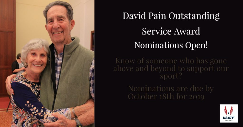 David Pain Outstanding Award 2019